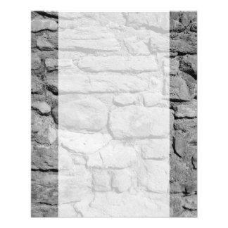 石塀。 白黒。 チラシ