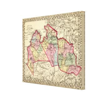 石大工のジャクソンのRoane郡、地図 キャンバスプリント