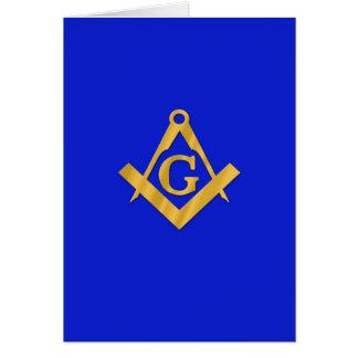 石大工-フリーメーソンの青 カード