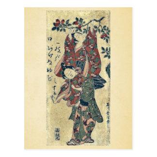 石川のToyonobuの浮世絵著盗品の柿 ポストカード