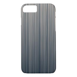 石板およびクリームの縦ストライプ iPhone 8/7ケース