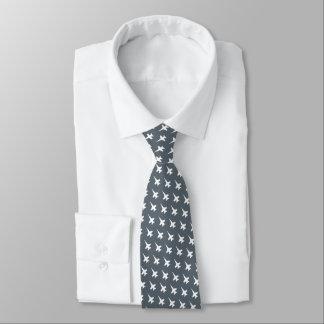石板のカスタムなパッチが付いている白いF/A-18パターン オリジナルネクタイ