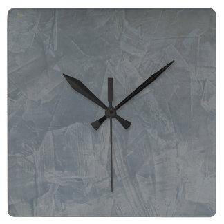 石板のベニス風プラスター模造のな終わり スクエア壁時計