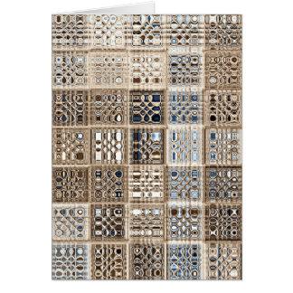 石板の茶色がかった鋼色のサリーのモザイク模様の芸術 カード