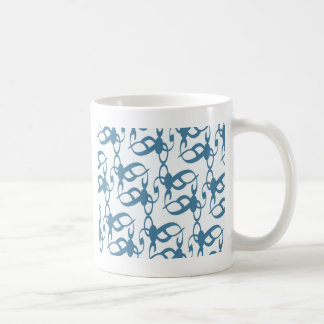 石板の青い種族のレース コーヒーマグカップ