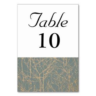 石板の「木」のテーブル数 カード