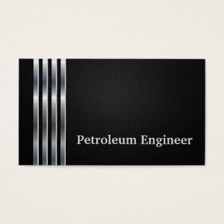 石油エンジニアの専門の黒い銀 名刺