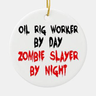 石油掘削装置の労働者のゾンビの殺害者 セラミックオーナメント