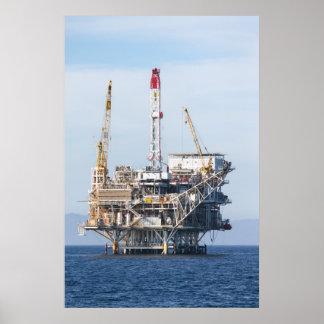 石油掘削装置 ポスター