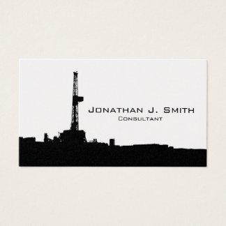 石油開発の装備の場所の黒のシルエット 名刺