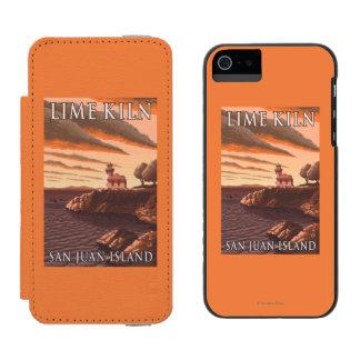 石灰がまの灯台ヴィンテージ旅行ポスター INCIPIO WATSON™ iPhone 5 財布 ケース