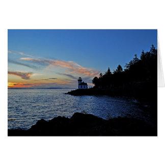 石灰がまPtの州立公園の日没 カード