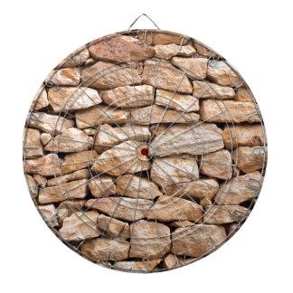 石灰岩の壁 ダーツボード