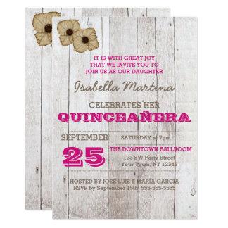 石灰水のプラムQuinceañeraの招待状 カード