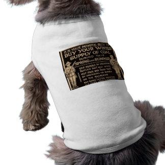 石炭のヴィンテージのあなたの冬の供給- WWIを買って下さい ペット服