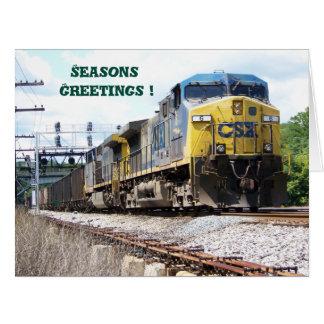 石炭の列車とのCSXの鉄道AC4400CW #6 カード