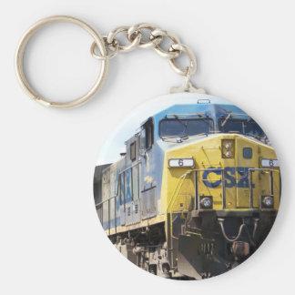 石炭の列車とのCSXの鉄道AC4400CW #6 キーホルダー