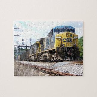 石炭の列車とのCSXの鉄道AC4400CW #6 ジグソーパズル