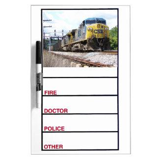石炭の列車とのCSXの鉄道AC4400CW #6 ホワイトボード