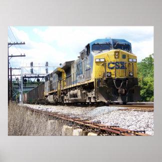 石炭の列車とのCSXの鉄道AC4400CW #6 ポスター