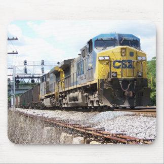 石炭の列車とのCSXの鉄道AC4400CW #6 マウスパッド