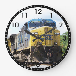 石炭の列車とのCSXの鉄道AC4400CW #6 ラージ壁時計