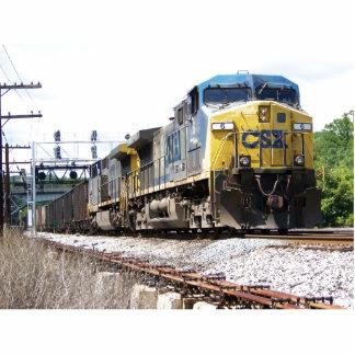 石炭の列車とのCSXの鉄道AC4400CW #6 写真彫刻(台付き)