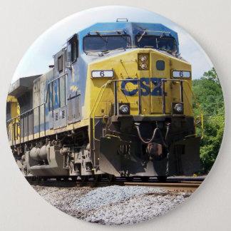 石炭の列車とのCSXの鉄道AC4400CW #6 15.2CM 丸型バッジ