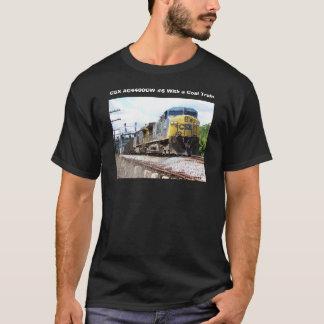 石炭の列車とのCSXの鉄道AC4400CW #6 Tシャツ