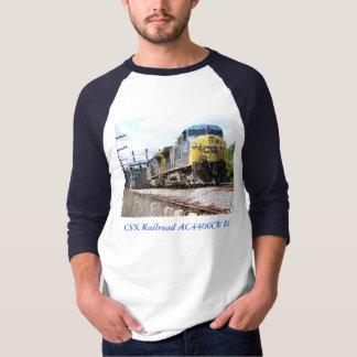 石炭の列車の信号器とのCSXの鉄道AC4400CW #6 Tシャツ