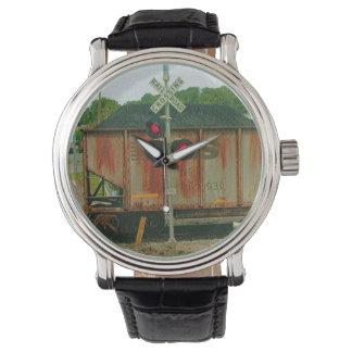 石炭の列車の腕時計 腕時計