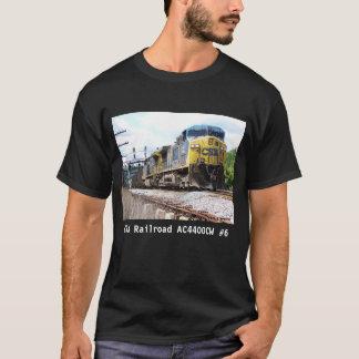 石炭の列車の黒のCSXの鉄道AC4400CW #6 Tシャツ