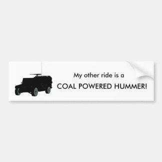石炭のPowerdのハンマー バンパーステッカー