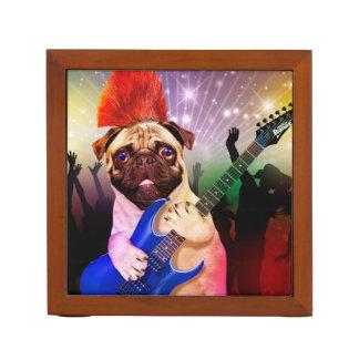 石犬-パグのパーティー-パグのギター-ロッカーの後をつけて下さい ペンスタンド