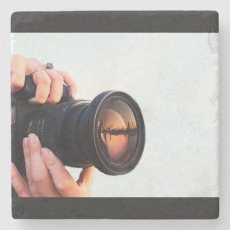 石造りのカメラのコースター ストーンコースター