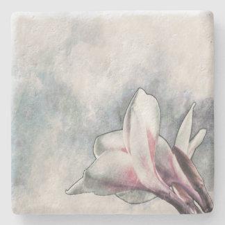 石造りのコースター- WC/Sketch Pulmariaの花v2 ストーンコースター