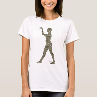 石造りのヒエログリフのダンサー Tシャツ