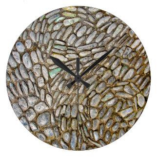 石造りのモザイク時計 ラージ壁時計