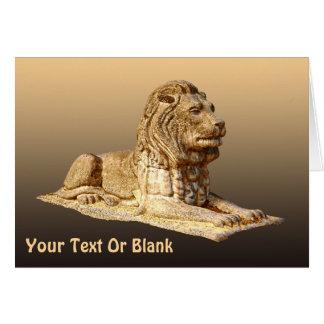 石造りのライオン カード