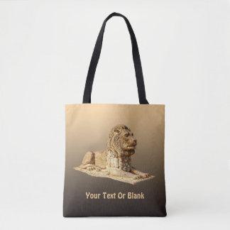石造りのライオン トートバッグ