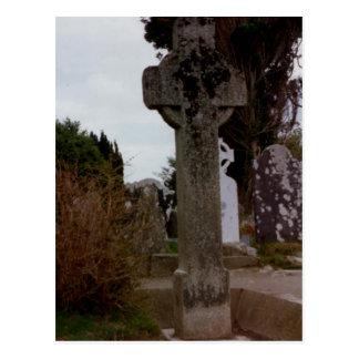 石造りの十字、Glendalough、ウィックロー、アイルランド ポストカード