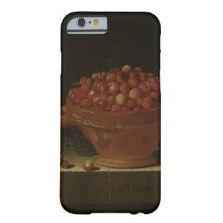 石造りの台座のいちごのボール BARELY THERE iPhone 6 ケース