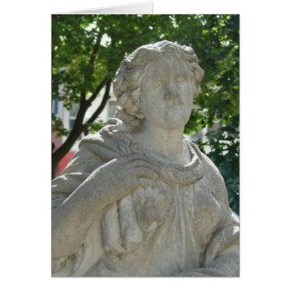 石造りの女性 カード