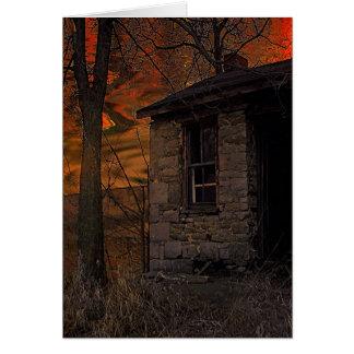 石造りの家 カード
