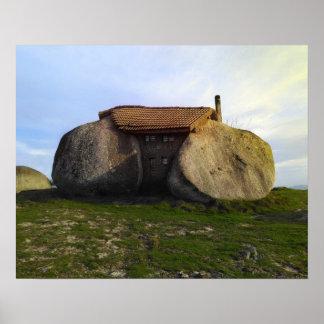 石造りの家 ポスター