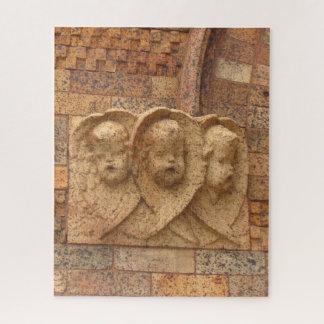 石造りの市民3人の花こう岩の乳児 ジグソーパズル