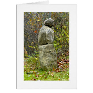 石造りの彫刻 カード
