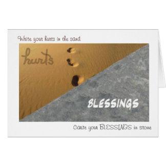 石造りの挨拶状の恵み カード
