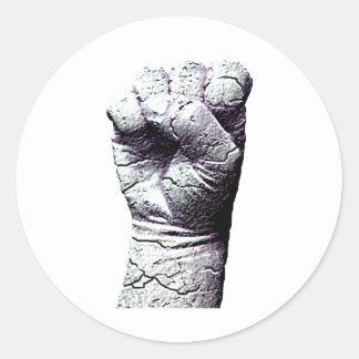 石造りの握りこぶし ラウンドシール