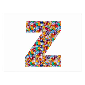 石造りの散りばめられたアルファZZZ z ZZの誕生日プレゼントを宝石で飾って下さい ポストカード